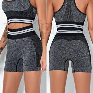 Women's Leggings Bike Shorts Fitness Gym High Waist Push Up Sports Yoga Pants US