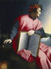 FLORENTINE 16TH CENTURY ALLEGORICAL PORTRAIT DANTE ART PAINTING POSTER BB5328A