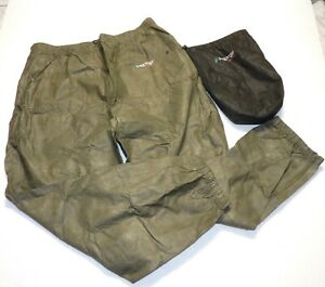 Men's Frogg Toggs Packable Lightweight Rain Pants Olive Green Size XXL New!