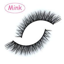 Hot Sale 2 Pairs 100% Handmade Mink Hair Short False Eyelashes Eye Makeup Lashes