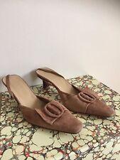 Women's designer DANIEL slingback sandals UK4.5 pumps pointed toe in tan colour