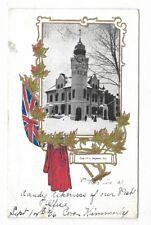 Lennox & Addington County NAPANEE, ONTARIO Post Office Patriotic PC Circa 1906