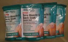 Assured Pure Epsom Salt Back Sore Muscles Recovery Soak bath salt 4 one Lbs Bags