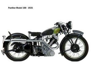 Motorcycle Canvas Picture Panther model100 1935 Canvas 16x12 inch