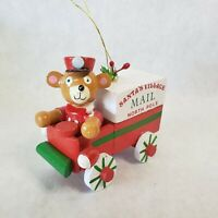 Kurt S. Adler NY 1983 Christmas Ornament Santas Village Mail Truck wooden