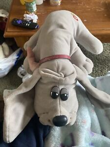 """Vintage Tonka 1986 Pound Puppy 18"""" Gray Plush Dog Tonka Puppy model 7812"""