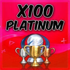 ✅ Playstationx100 Platinum Trophy Service PSN/PS3/PS4/Vita✅