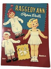 Vintage 1995 Shackman Raggedy Ann & Andy Paper Dolls with Marcella, Uncut