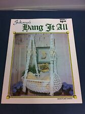 70's Vintage Juliano's Hang It All Macrame Instructions Pattern Craft Booklet