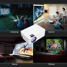 HD 1080P Home Cinema Theater Multimedia LED Projector AV SD VGA USB HDMI White
