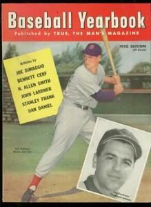 BASEBALL YEARBOOK #1-1950-TED WILLIAMS COVER-HIGH GRADE NM