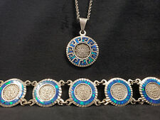 Silver Bracelet and Pendant Native South American Style Sterling