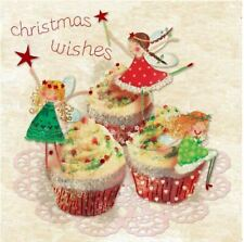 Christmas Cards Christmas Fairy Cakes 10 Pack With Envelopes Charity Xmas Fun
