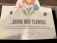 - Silver Rain Cloud & Flowers Htf ! Nwt Origami Owl April Charm of the Month