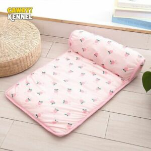 Dog Blanket Cool Pad Mat Nest With Pillow For Puppy Large Breed Pet Bed Supplies