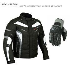 Motorcycle Textile Jacket Touring Waterproof Coat Motorbike Racing Summer Gloves