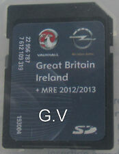 VAUXHALL SAT NAV SD CARD Navi 600 UK Europa Gratis 2012 2013 7 612 109 319
