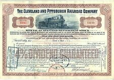 Cleveland & Pittsburgh Railroad Company Stock Certificate Pennsylvania RR