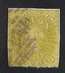 Chile Stamps- Scott # 11/A1-1c-Canc/H-1862