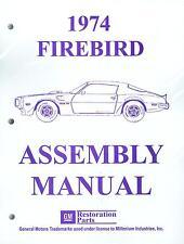 1974  FIREBIRD ASSEMBLY MANUAL