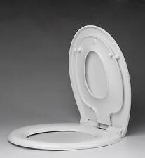 WHITE SOFT CLOSE FAMILY TOILET WC SEAT TOP FIX METAL HINGE MV125F