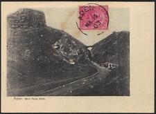 """Aden 1903 Envoie Carte Principal Pass Gate Avec Inde Tampon Lié """" Mar. 14.03 """""""