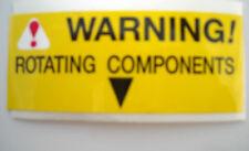 WARNING ROTATING COMPONENTS' Sticker -1980-1989 Jaguar XJ6 +XJS - FREE DELIVERY