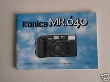Bedienungsanleitung Konica MR.640