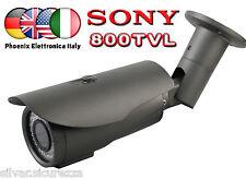 Telecamera  SONY 800TVL  48 IR Notturna FILTRO MECCANICO GRIGIA METALLO