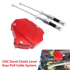 Red CNC Stunt Motorcycle Clutch Assist Booster Easy Pull Cable System Dirt Bike