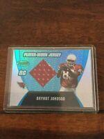 2003 Bowmans Best Player Worn Jsy Rookie Bryant Johnson Cardinals