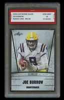 JOE BURROW 2020 LEAF SILVER 1ST GRADED 10 ROOKIE CARD RC CINCINNATI BENGALS/LSU