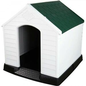 New XXL Dog House Kennel Pet Animal Shelter Plastic Weatherproof Indoor Outdoor