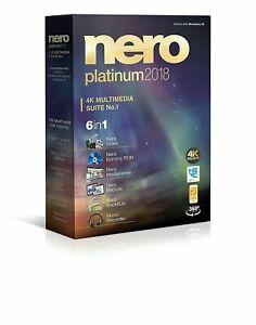 Nero 2018 Platinum 4K Multimedia Suite New Retail Box Video Editing