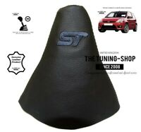 """Gear Gaiter For Ford Fiesta 2002-2008 Leather Black """"ST"""" Embroidery"""