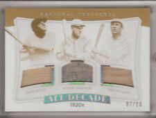 2017 NATIONAL TREASURES GAME USED BABE RUTH TRIS SPEAKER ROGERS HORNSBY 7/10