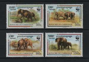 CAMBODIA 1997 WWF - THE INDIAN ELEPHANT *VF MNH*