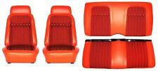 1969 Camaro Deluxe Houndstooth Interior Seat Cover Kit  OE Quality! Orange