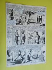 "SERGIO TARQUINIO-tavola originale FIRMATA pagina-98  -""3 Storie Avventurose""1954"