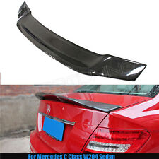 For Mercedes Benz C Class W204 R Style Carbon Fiber Rear Trunk Spoiler 2008-2014