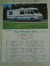 Gulf Sun Stream 2000 Motor Home brochure Jun 1992
