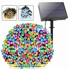Solar Powered 100 200 300LED String Fairy Lights Outdoor Garden Party Light Lamp