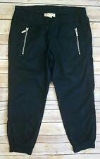 Michael Kors Women's 2 P Petite Black Casual Pull-On Capri Pants Elastic Hem