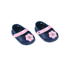 Navy and Pink Polliwog Ballerina Flats Fits 18 inch American Girl Dolls