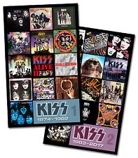 "KISS twin pack magnet set (two 4.75"" x 3.75"" discography magnets) paul ace gene"
