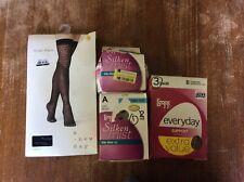 Leggs Pantyhose Lot Size A/B Beige Suntan Black *READ* Womens Hosiery
