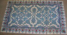"Turkish 40""x24"" (100cmx60cm) Iznik Blue Floral Pattern Ceramic Tile Panel Mural"