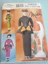1 Vogue Madra #742 Doll Collection Pattern Lot Uncut Vtg 3 Dresses Accessories