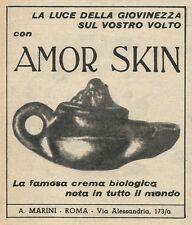 W8592 Crema biologica AMOR SKIN - Pubblicità 1963 - Vintage Advertising