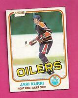 1981-82 OPC # 107 OILERS JARI KURRI ROOKIE GOOD CARD (INV# D1955)